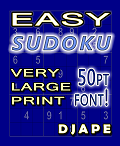 Easy Sudoku Very Large Print