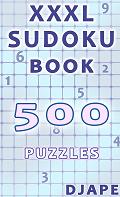 XXXL Sudoku book, 500 puzzles, 30pt font